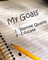 A piece of paper with 'My Goals' written on it.