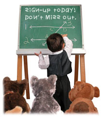 Picture of a child holding a workshop with teddy bears